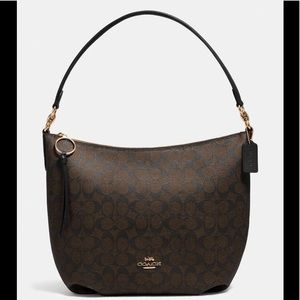 COACH SIGNATURE CANVAS SKYLAR HOBO